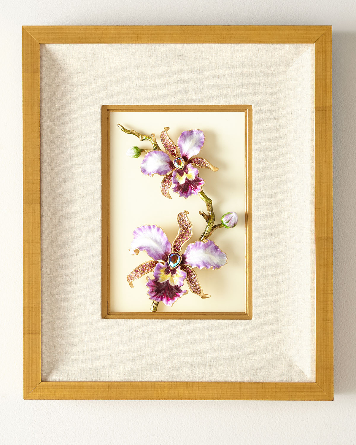 Jay Strongwater Clothing ORCHID WALL ART