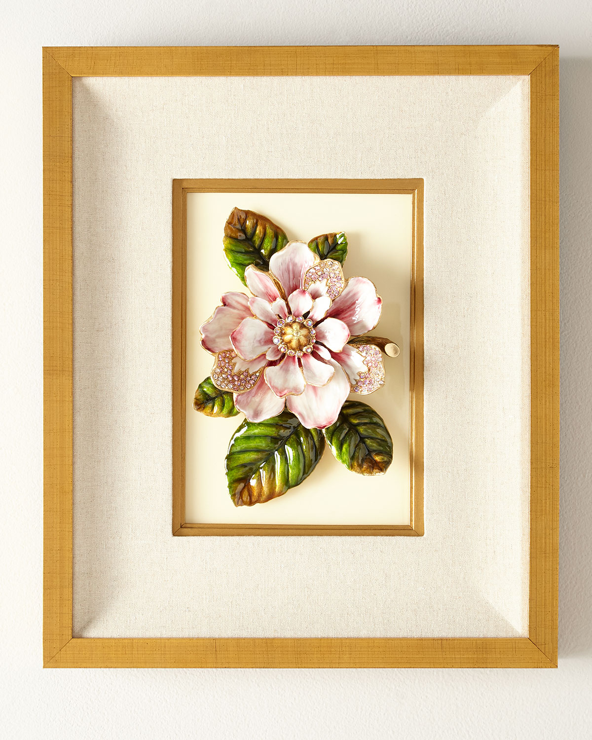 Jay Strongwater Clothing MAGNOLIA WALL ART