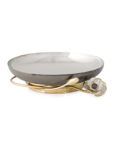 Michael Aram Anemone Small Footed Platter