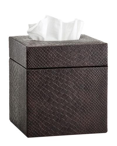 Conda Tissue Box Cover, Brown