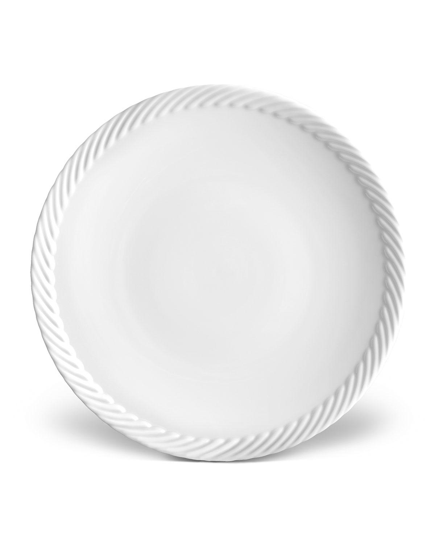 L'objet Dinnerwares CORDE SALAD/DESSERT PLATE, WHITE