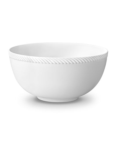 Corde Large Bowl, White