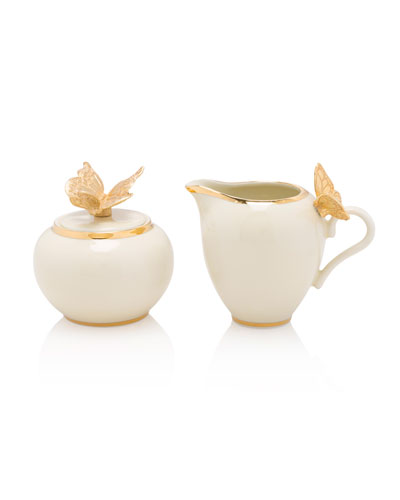 Jay Strongwater Butterfly Creamer and Sugar Set