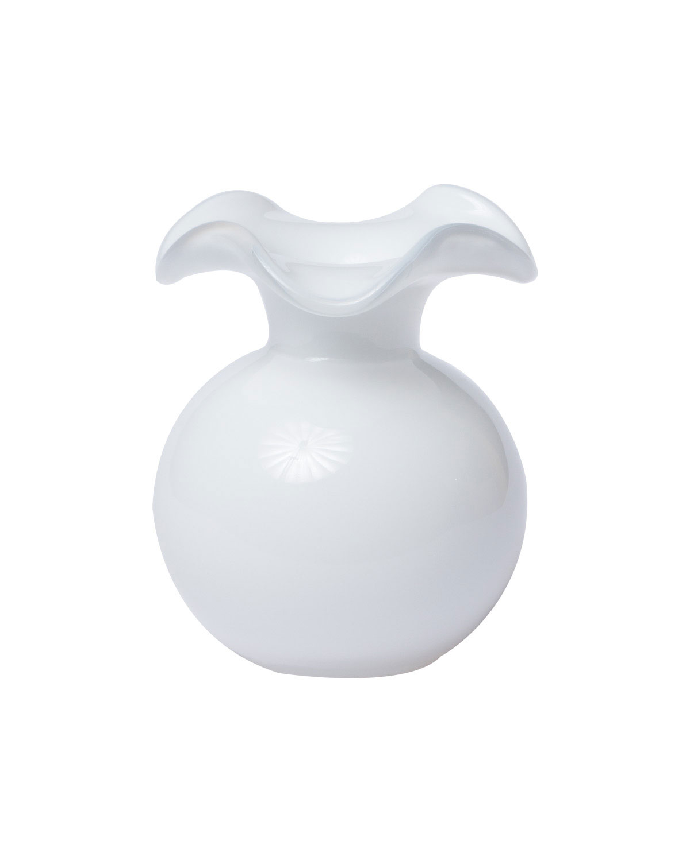 Vietri Clothing HIBISCUS GLASS BUD VASE, WHITE