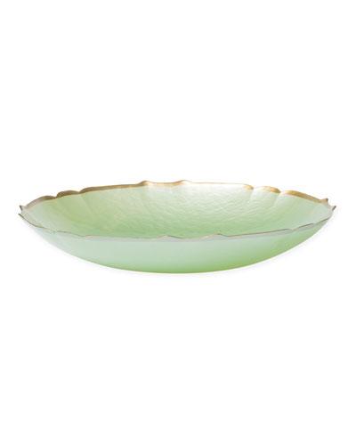 Pastel Glass Large Bowl, Pistachio