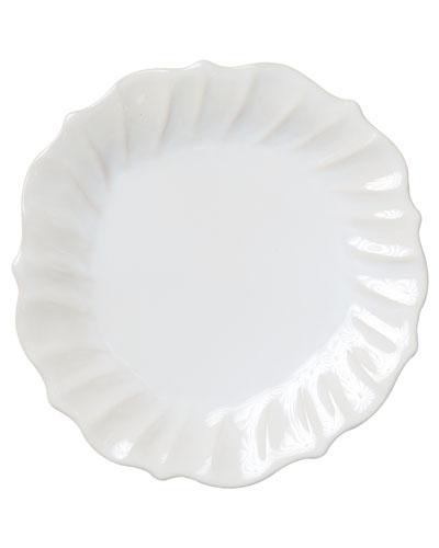 Incanto Stone Ruffle Dinner Plate, Linen