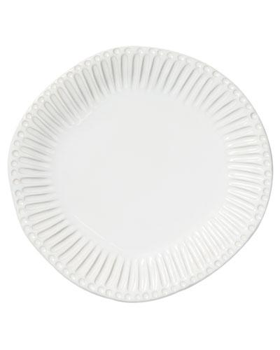 Incanto Stone Stripe Dinner Plate, White