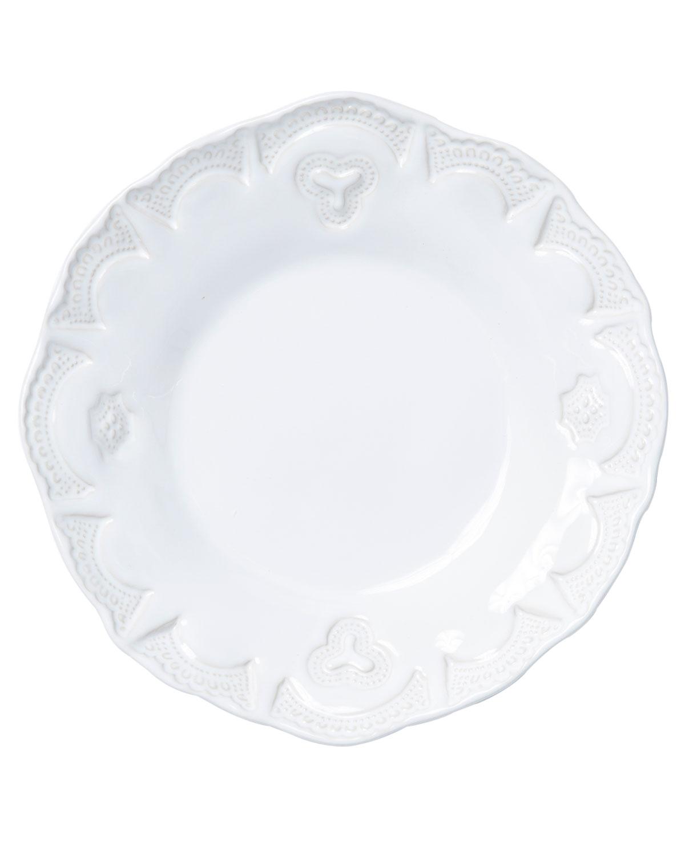 Vietri Dinnerwares INCANTO STONE LACE PASTA BOWL, WHITE