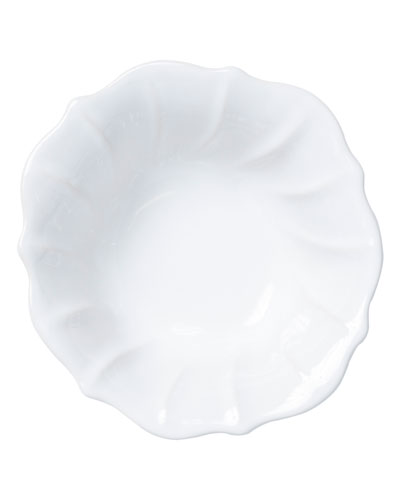 Incanto Stone Ruffle Cereal Bowl, White