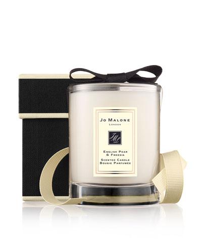 English Pear & Freesia Travel Candle, 60 g