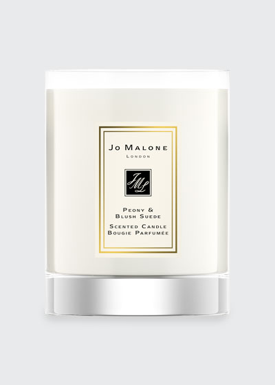 Peony & Blush Suede Travel Candle, 60 g