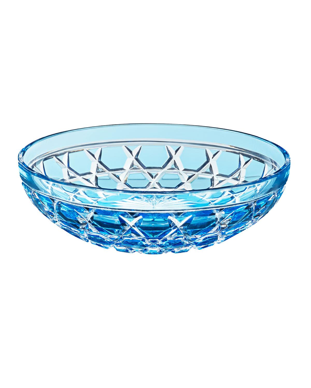 Saint Louis Crystal Dinnerwares ROYAL SMALL BOWL, SKY BLUE
