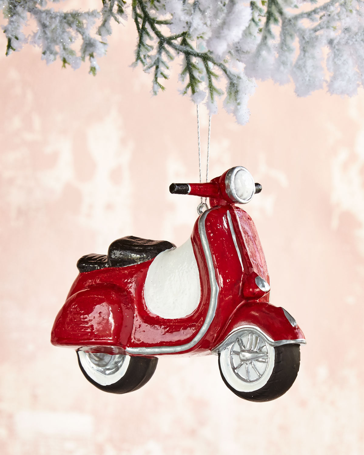 Red Scooter Christmas Ornament