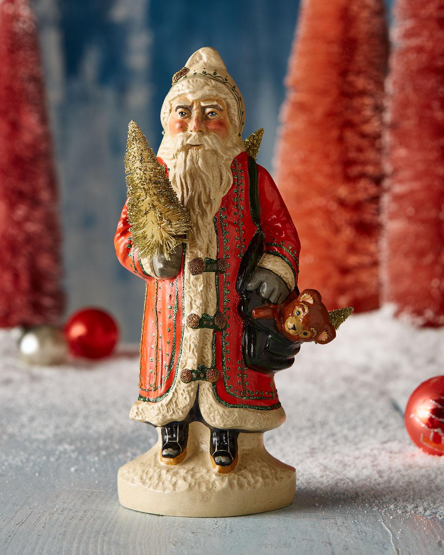 Big Gold European Father Christmas Figurine