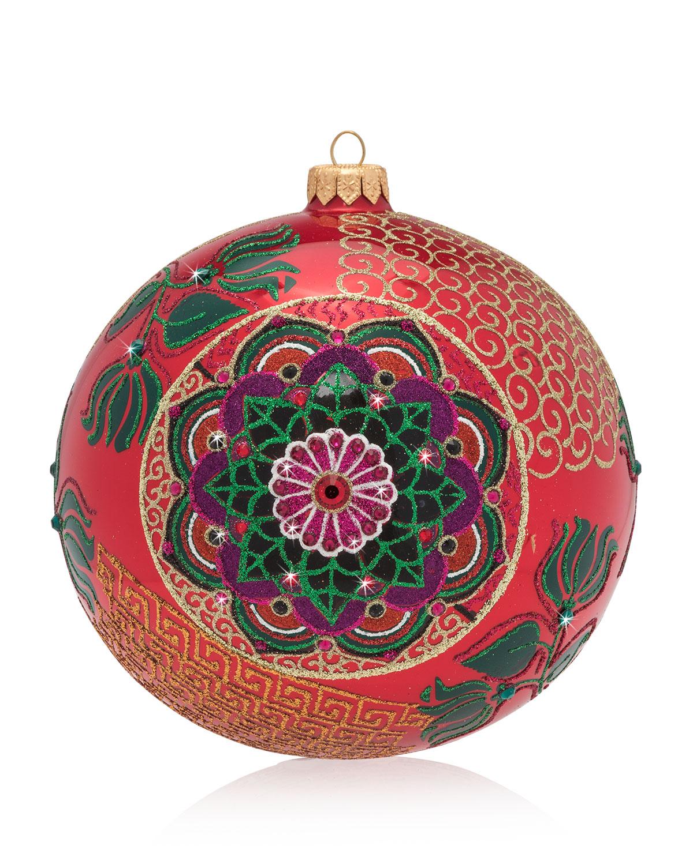 2018 Opulent Glass Christmas Ornament
