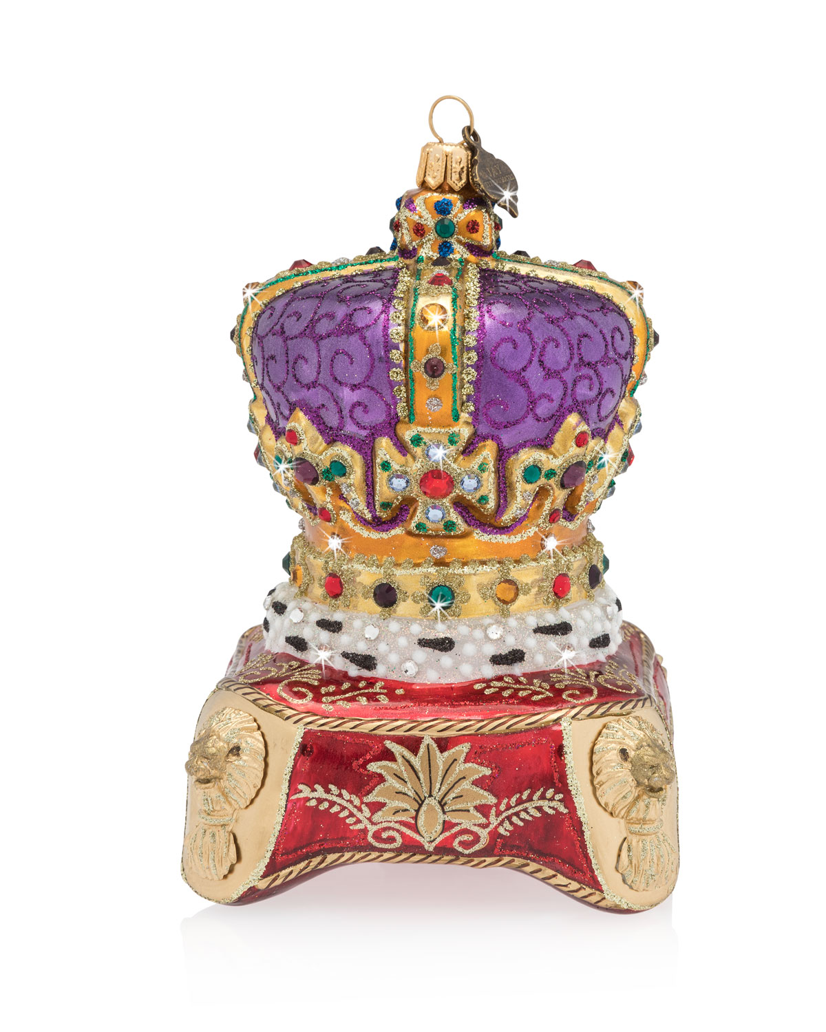 Queens Crown Glass Christmas Ornament