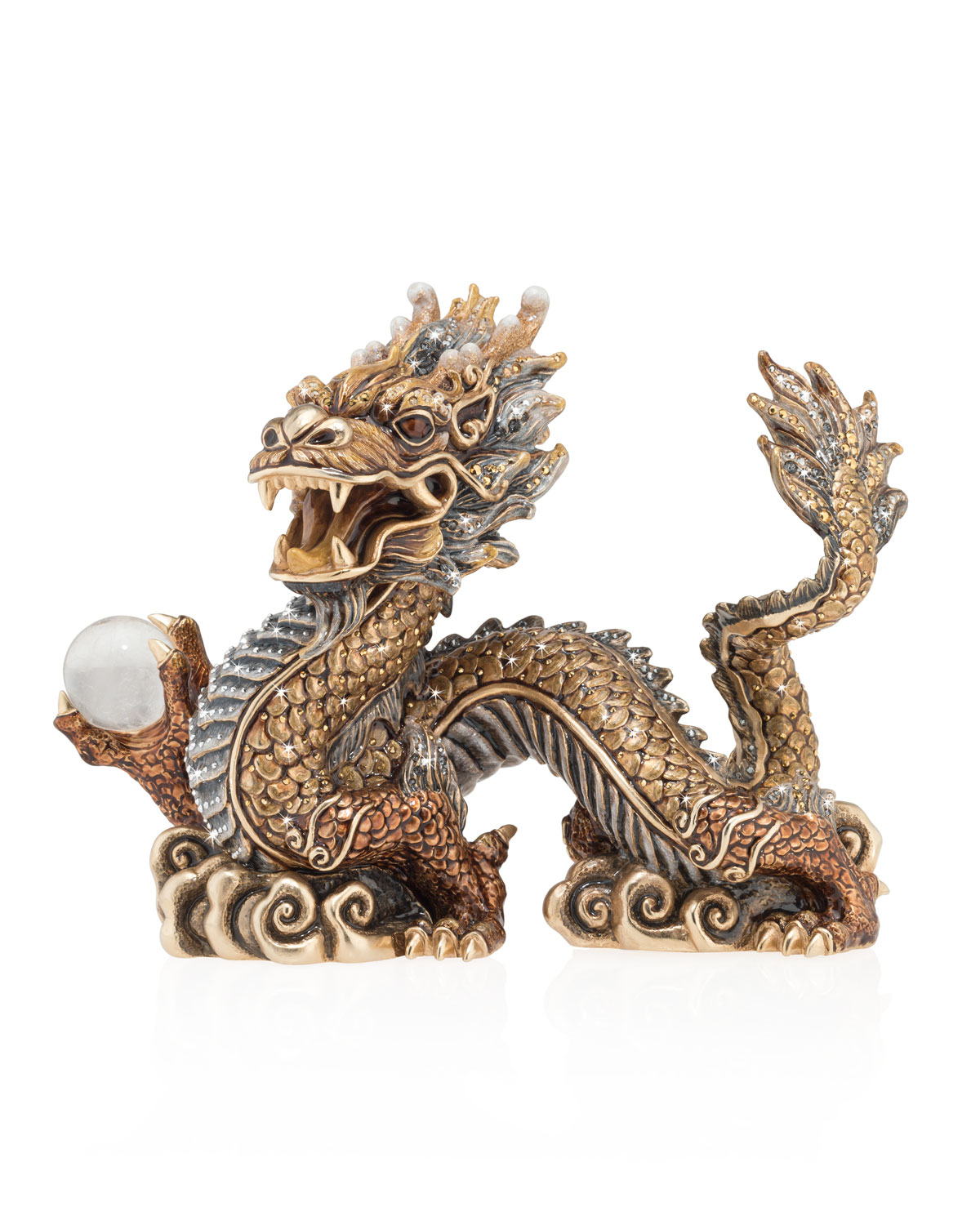 Jay Strongwater Arts IMPERIAL DRAGON FIGURINE