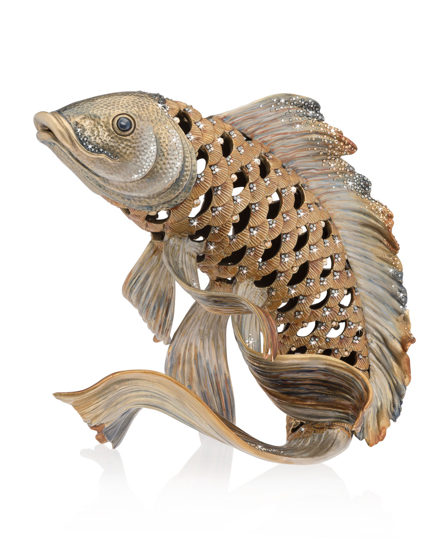 Jay Strongwater Arts KOI FISH FIGURINE