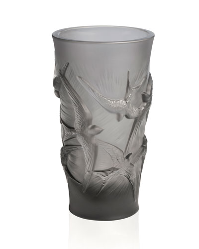 Crystal Modern Vase Bergdorfgoodman