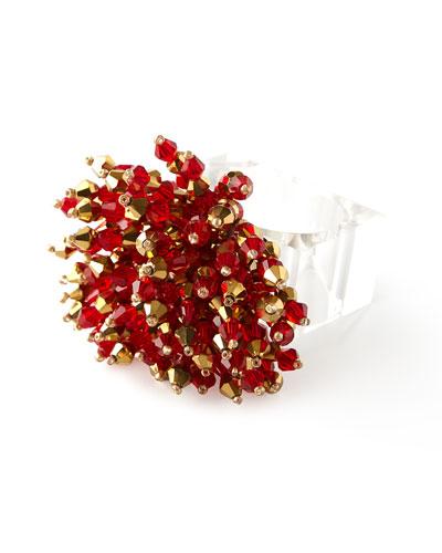 Kim Seybert Brilliant Napkin Ring - Red