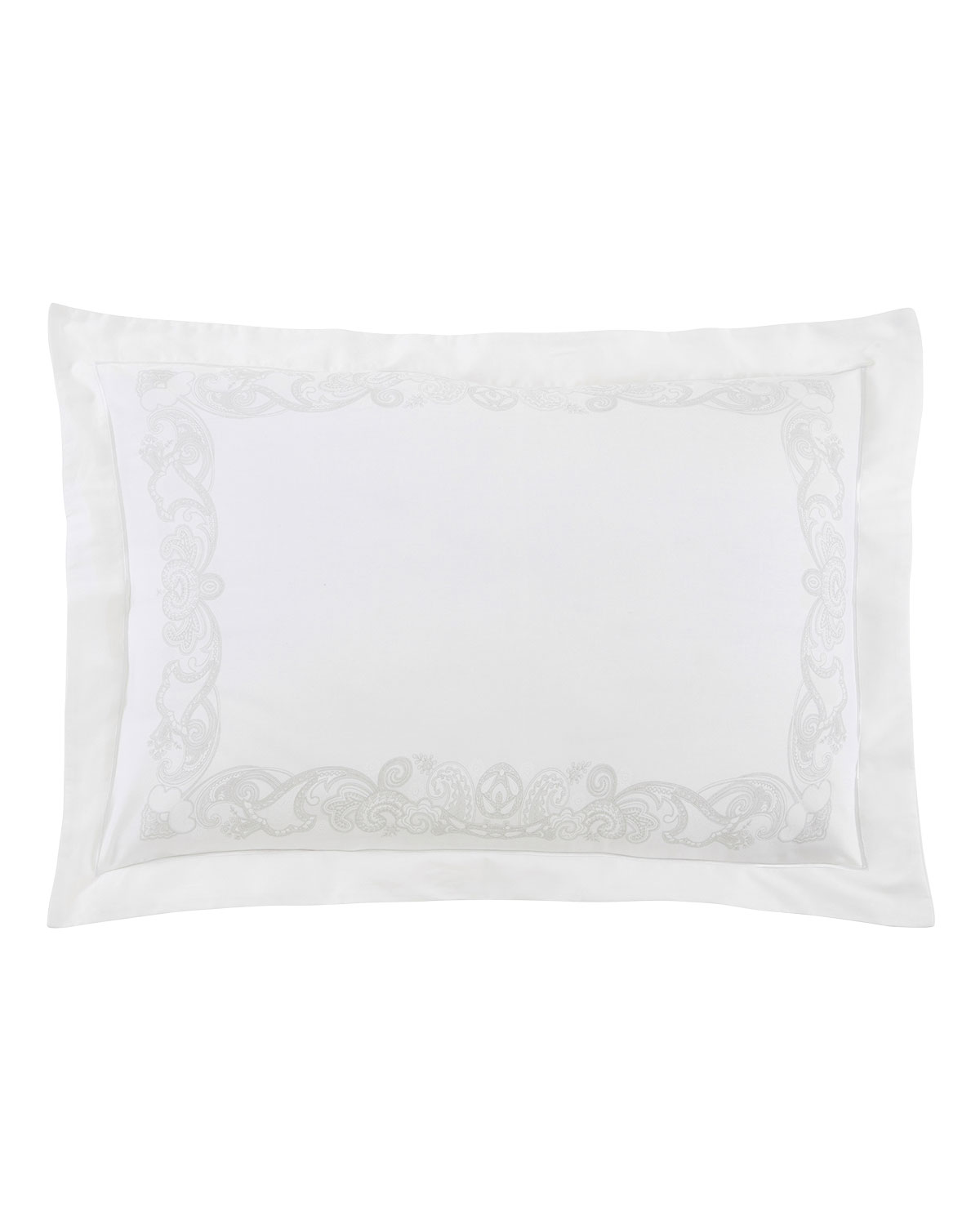 ANNE DE SOLENE Majeste 300 Thread-Count Standard Sham in Blanc