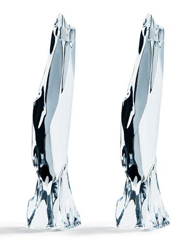 Glaciarium Large Candlestick Holders, Set of 2