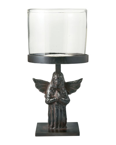 Jan Barboglio Angel D'Rodilla Statue Candle Holder