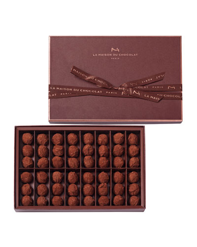 La Maison Du Chocolat 48-Piece Dark Chocolate Truffles
