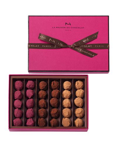 La Maison Du Chocolat 30-Piece Flavored Truffles Box