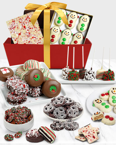 Chocolate Covered Company Festive Gift Basket