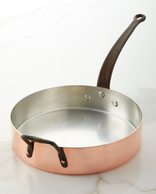 Duparquet Copper Cookware SOLID COPPER SILVER-LINED SAUTE PAN