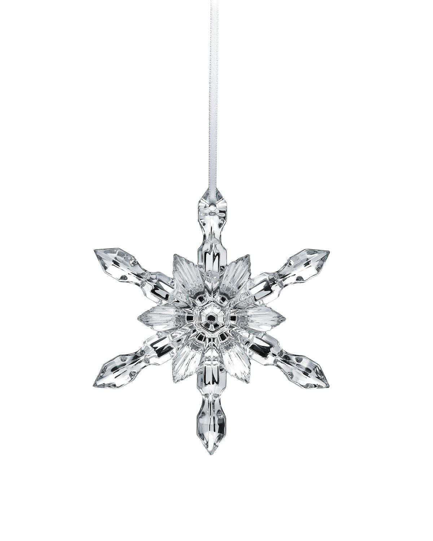 Silver Snowflake Christmas Ornament