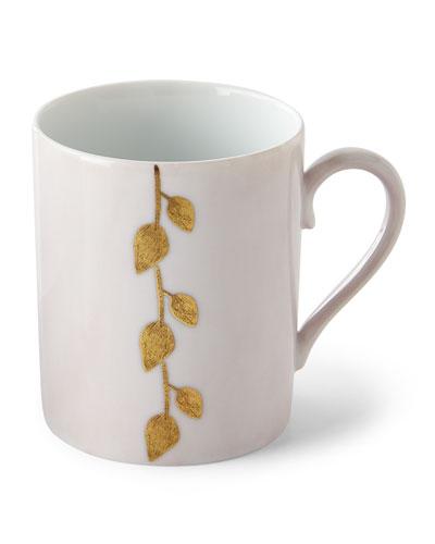 Haviland & Parlon Daphne Camelia Gold-Leaf Mug, Pink