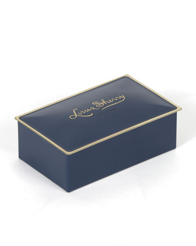 Louis Sherry Ming Blue Two-Piece Chocolate Truffle Tin