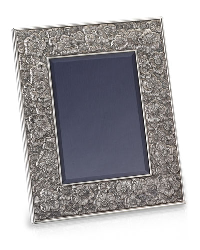 Gardenia Silver & Leather Picture Frame, 4