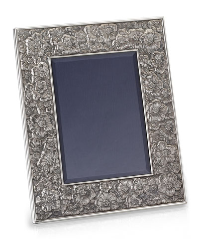 Gardenia Silver & Leather Picture Frame, 8