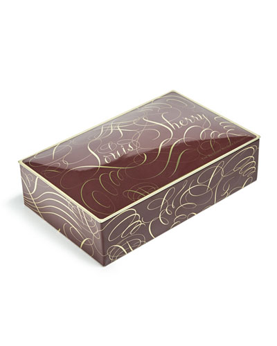 Calligraphy 12-Piece Assorted Chocolate Truffle Tin