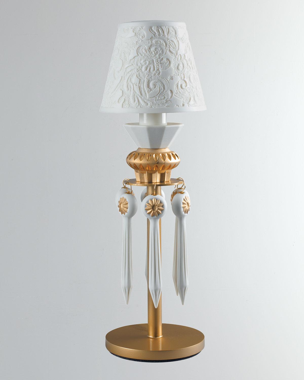 Lladrò Lighting & lamps BELLE DE NUIT LITHOPHANE LAMP, GOLD