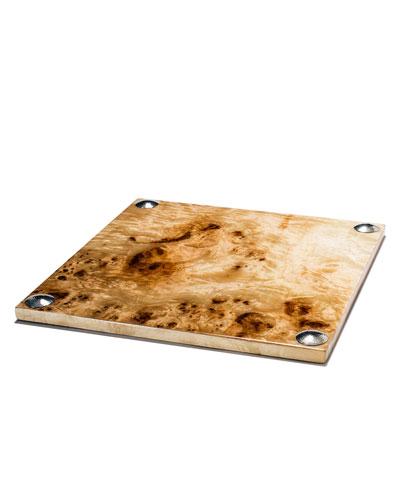 Burl Veneer Large Serving Board