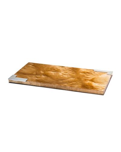 Burl Veneer Small Serving Board