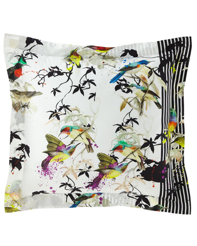 Birds Rampage European Shams, Set of 2