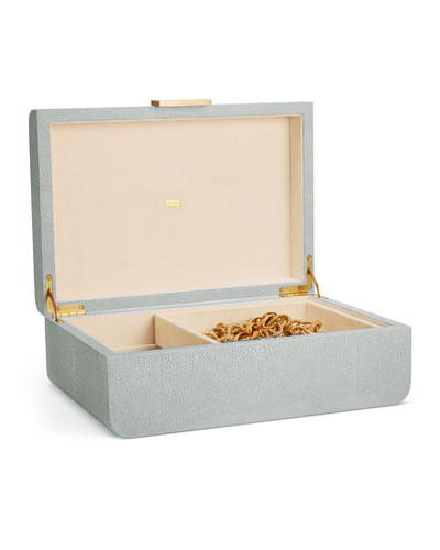 Modern Shagreen Large Jewelry Box
