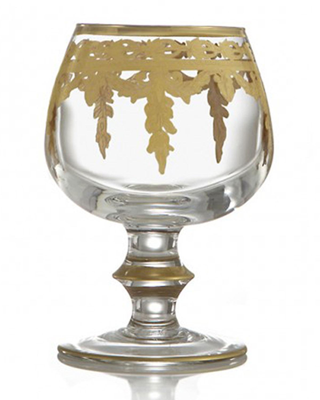 Arte Italica VETRO 24K GOLD BRANDY GLASS
