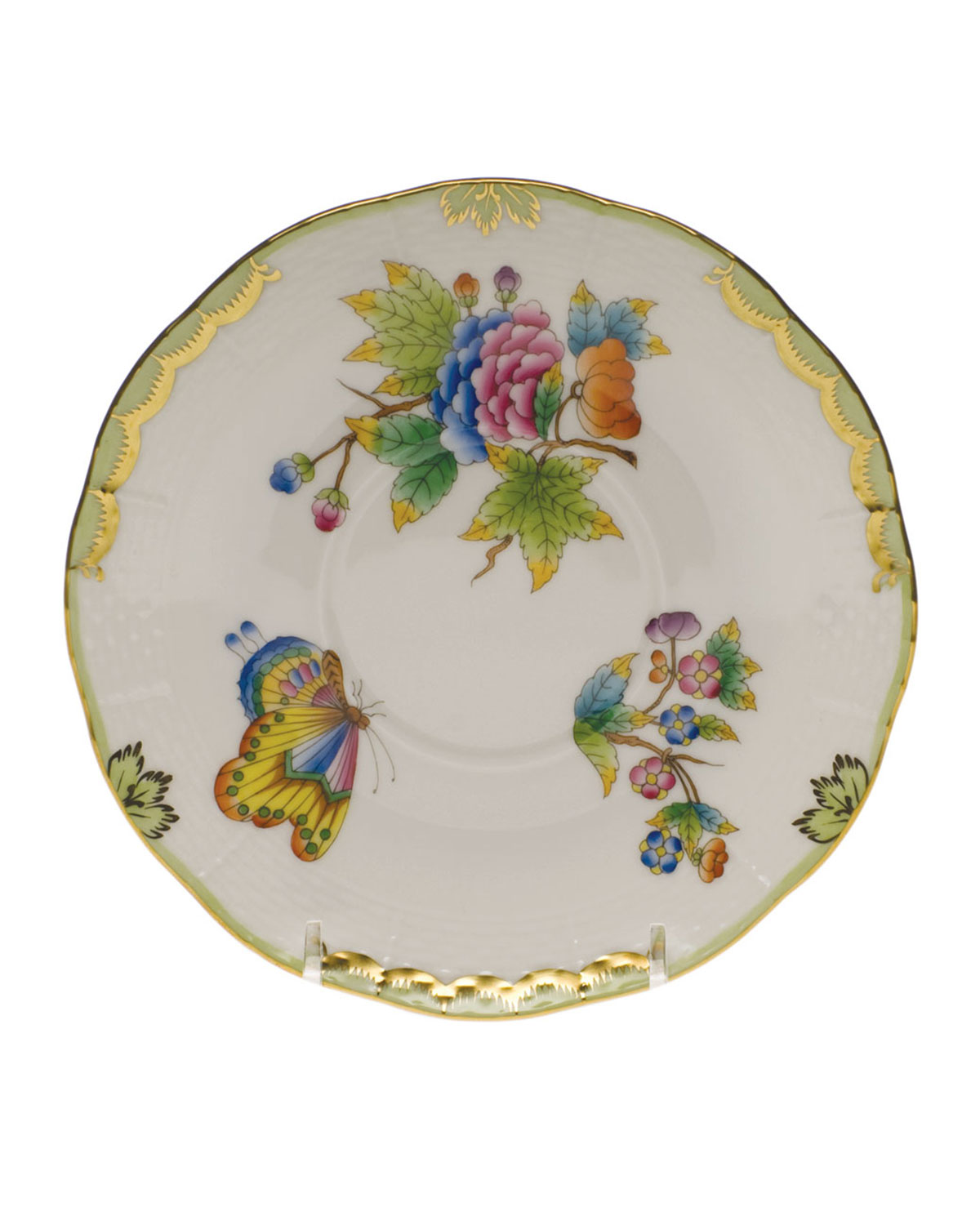 Herend Clothing QUEEN VICTORIA COVERED BOUILLON SAUCER
