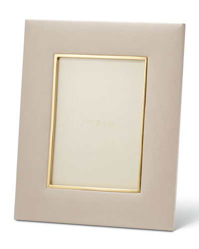 AERIN Valentina Leather Picture Frame, 5