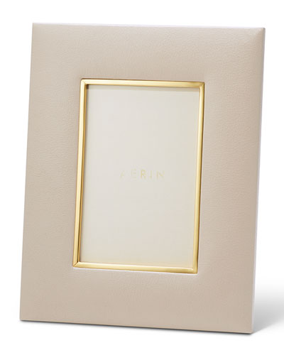 AERIN Valentina Leather Picture Frame, 4