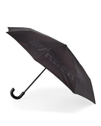 Trafalgar Logo Jacquard Folding Umbrella