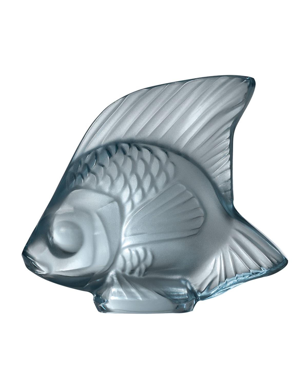 Lalique Clothing FISH SCULPTURE, PERSEPOLIS BLUE
