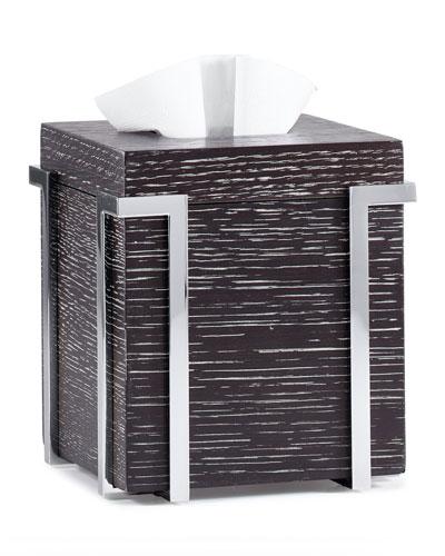 Embrace Oak Chrome Tissue Box Cover