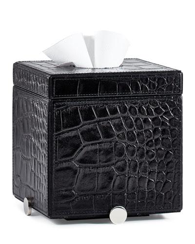 Discus Black Tissue Box Cover